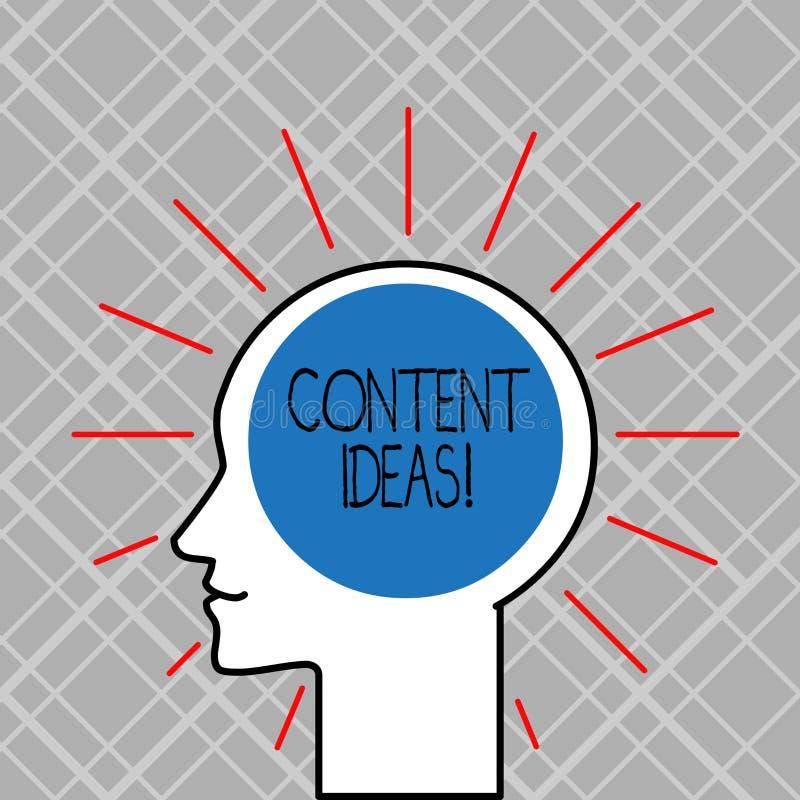 Слово писать тексту идеи содержания Концепция дела для сформулированных мысли или мнения для кампании содержания иллюстрация вектора