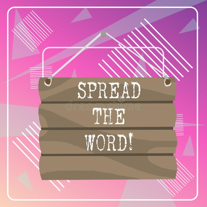 Слово писать текст распространило слово Концепция дела для доли информация или новости используя социальный пробел соединения сре иллюстрация вектора