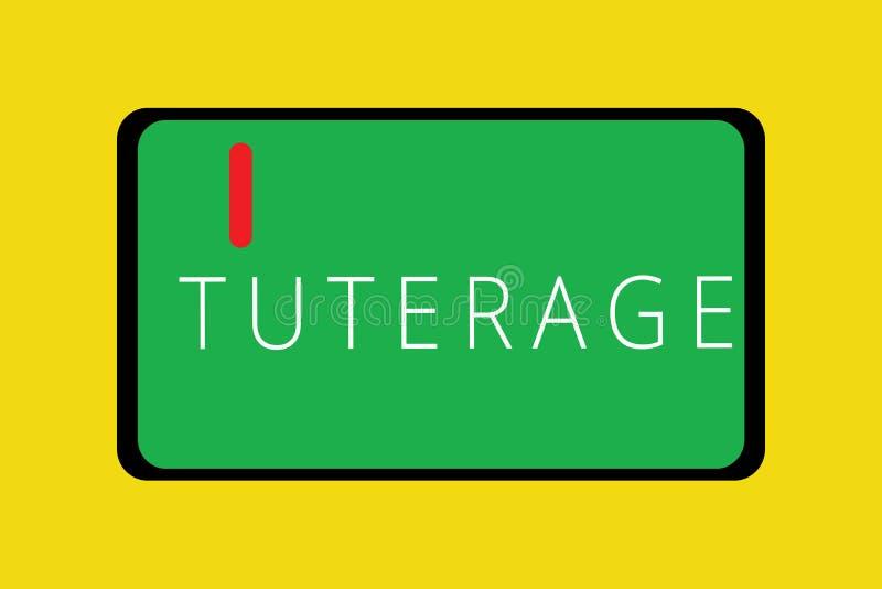 Слово писать текст Tuterage Концепция дела для защиты или власти над кто-то или что-то чернь планшета опекунством стоковое фото
