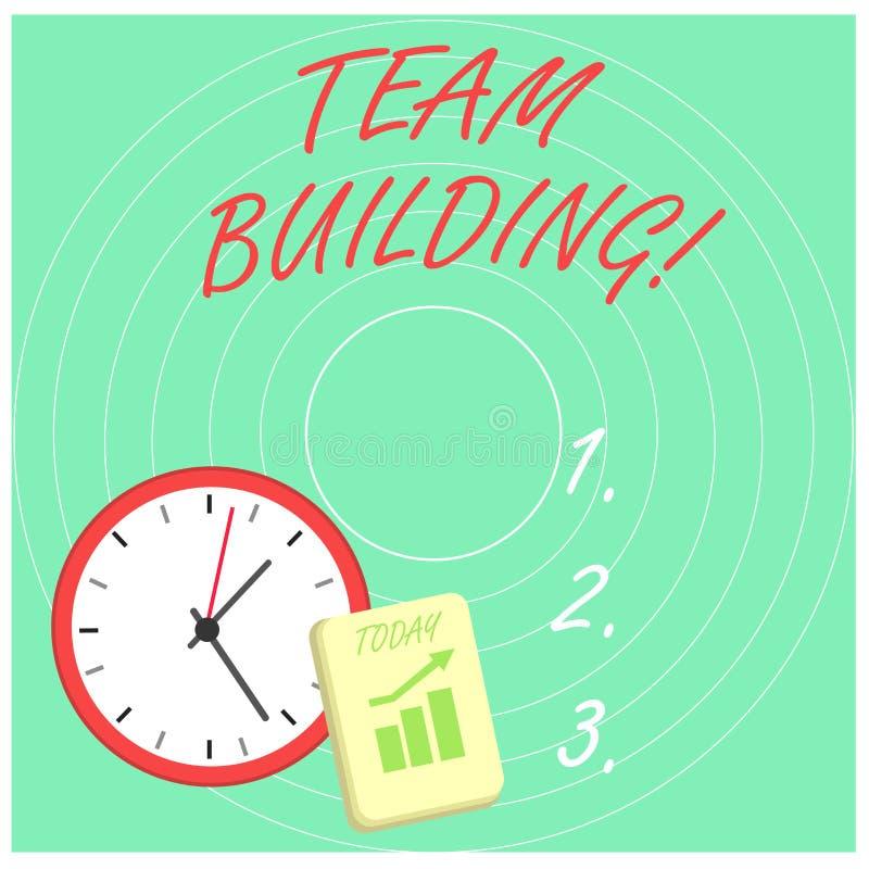 Слово писать тимбилдинг текста Концепция дела для деятельности конструированной для увеличения плана мотивации и сотрудничества бесплатная иллюстрация