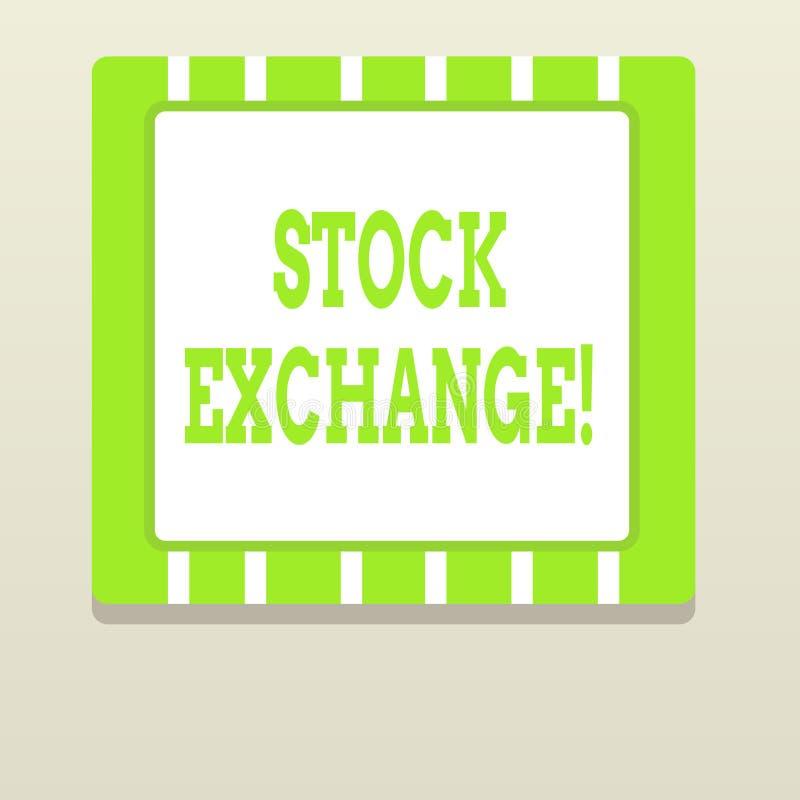 Слово писать фондовую биржу текста Концепция дела для места где показывающ, что купило и продало запасы - и - доли бесплатная иллюстрация