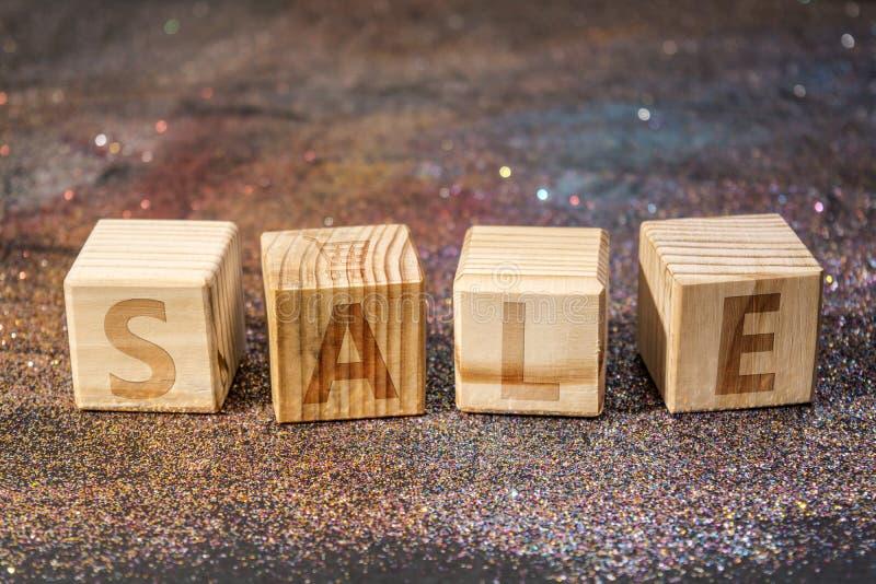 Слово продажи кубов стоковые фото