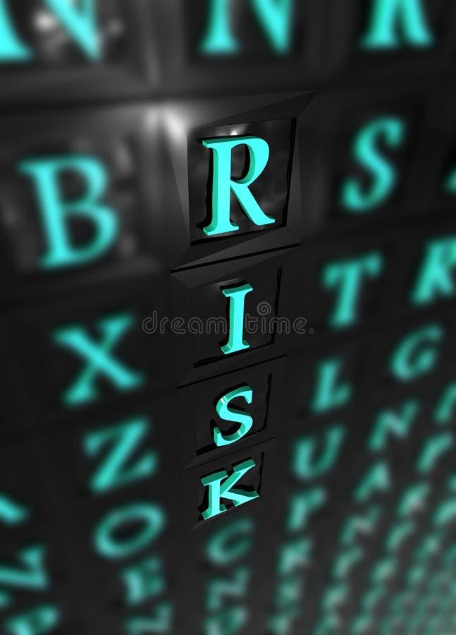 слово риска 3d стоковое изображение rf