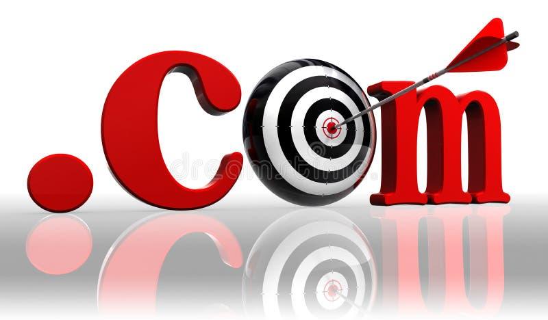 слово цели схематического многоточия com красное бесплатная иллюстрация