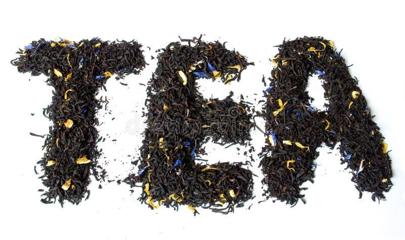 слово чая черного графа серое сделанное стоковые изображения rf