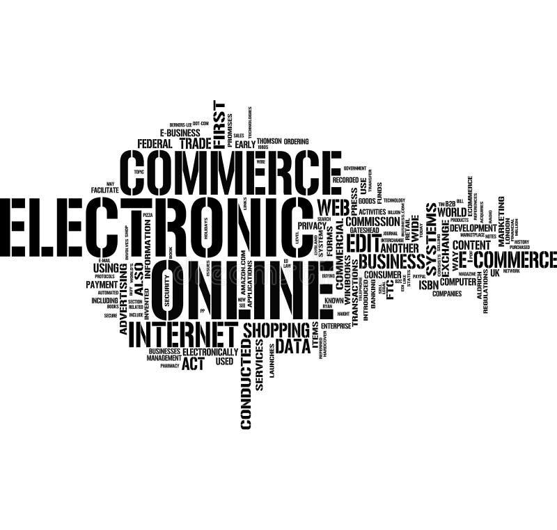слово электронной коммерции облака бесплатная иллюстрация