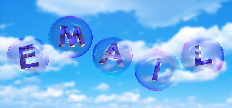 Слово электронной почты в пузыре иллюстрация вектора
