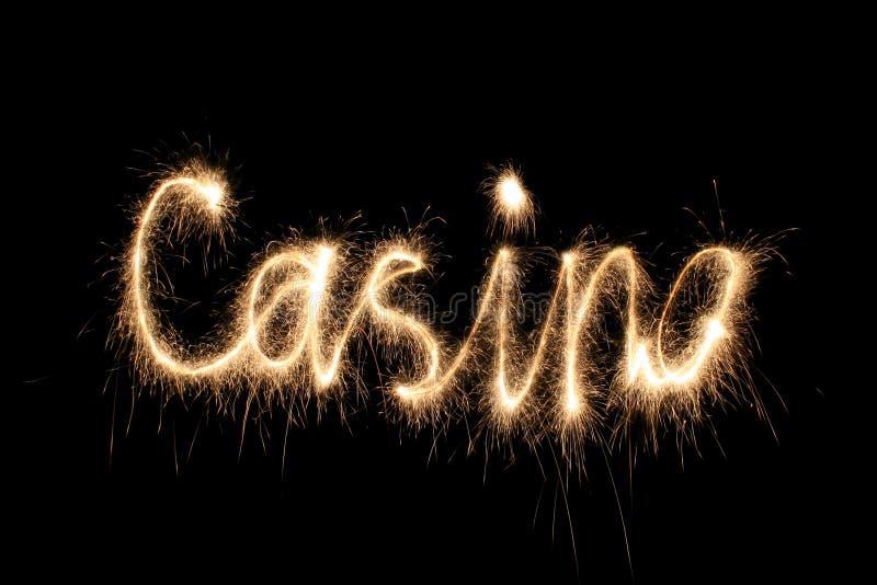 слово sparkler казино стоковые фотографии rf