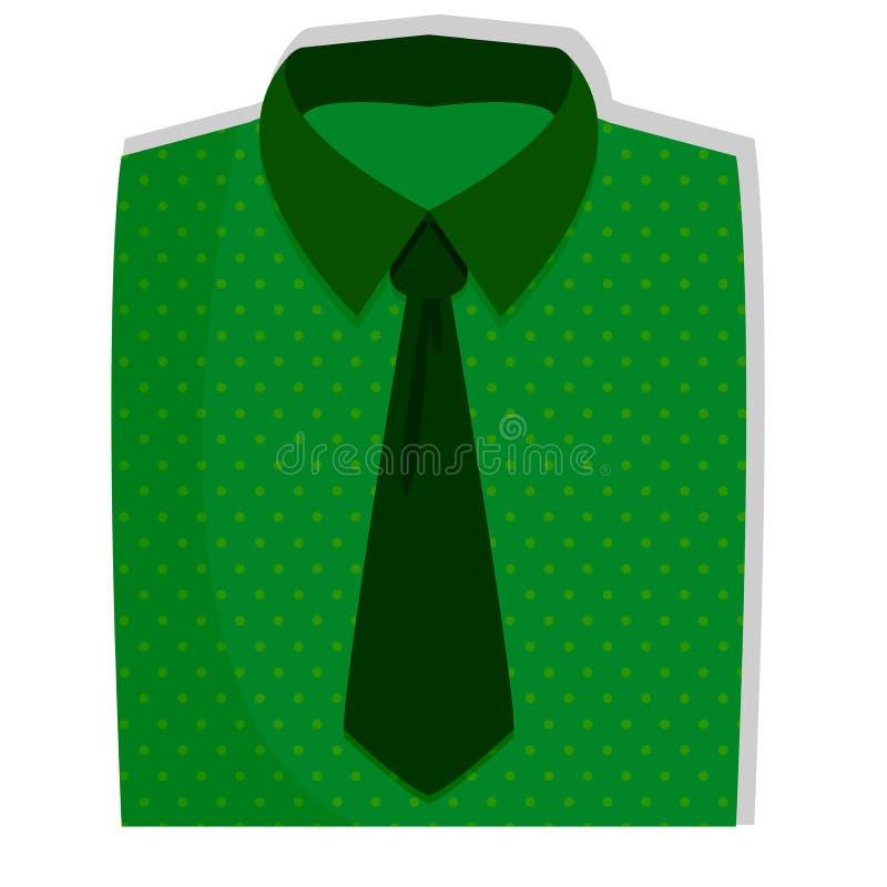 Сложенный значок рубашки с связью иллюстрация штока
