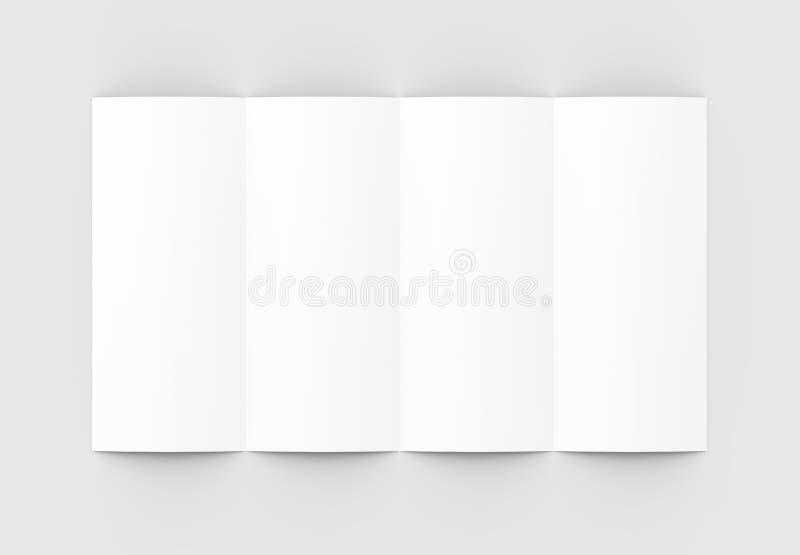 4 сложили - четырехкратный - вертикальный модель-макет брошюры изолированный на sof бесплатная иллюстрация