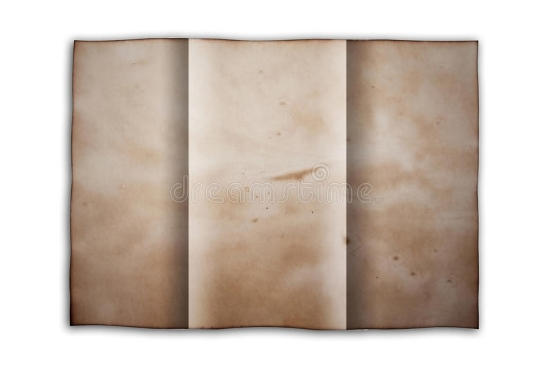 сложите старую бумагу стоковые изображения