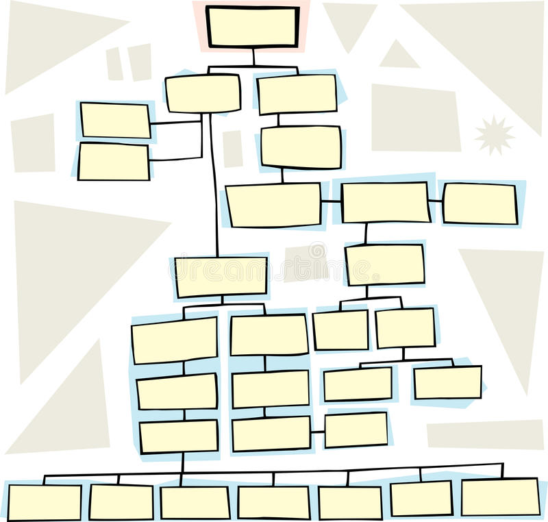 сложная схема технологического процесса иллюстрация вектора