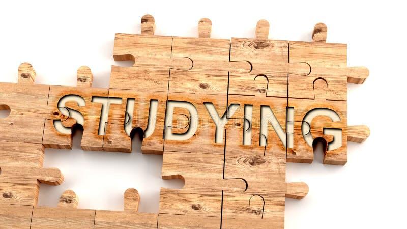 Сложное и запутанное изучение: изучить сложную, сложную и сложную концепцию обучения, изображаемую как кусочки деревянной пилы иллюстрация вектора