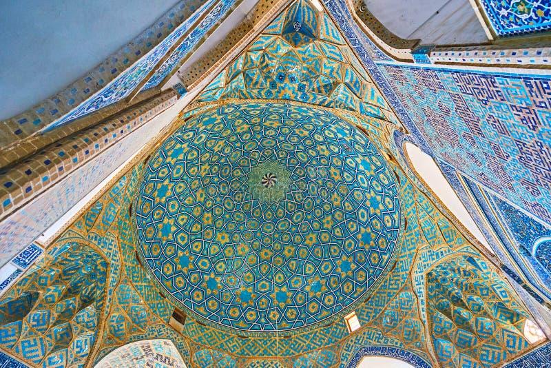 Сложный купол мечети Jameh, Yazd, Ирана стоковые фотографии rf