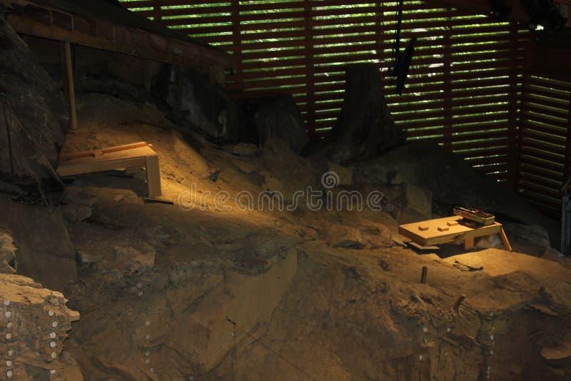 Слои выкопенной экскаватором зоны Meadowcroft Rockshelter стоковое изображение