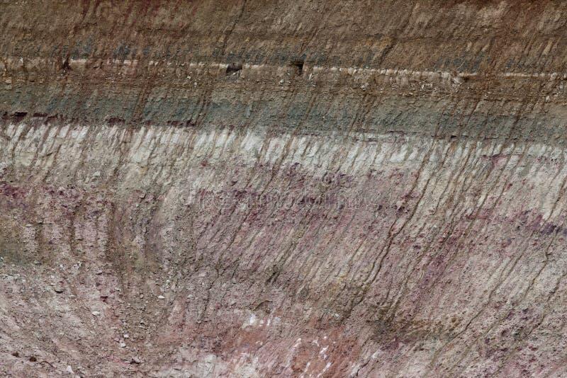 слои подвергли действию грязью, котор стоковые фотографии rf