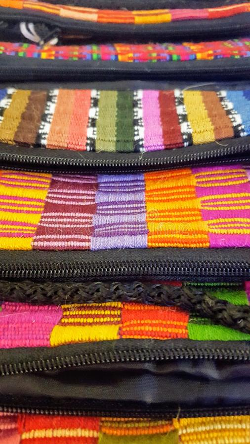 Слои, цвета, & текстуры портмон стоковое фото rf