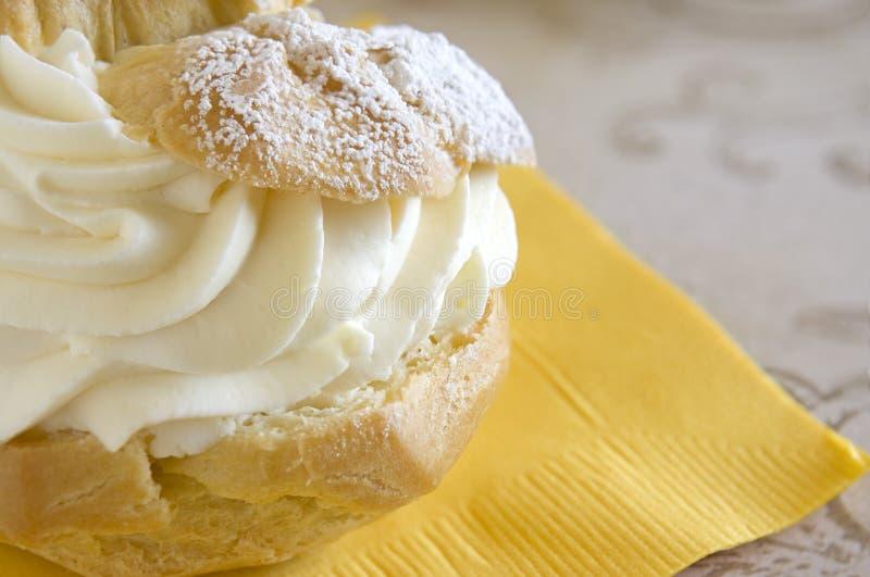 слойка печенья десерта creme стоковое изображение