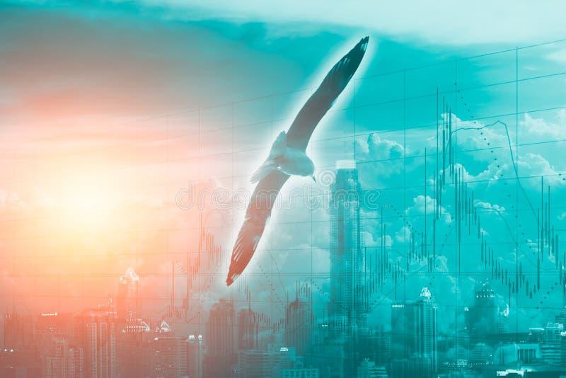 Слой мухы птицы с городом метро и предпосылкой запаса дела бесплатная иллюстрация