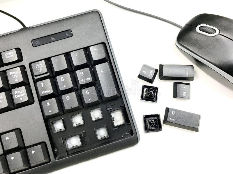 Сломанная клавиатура стоковое фото rf