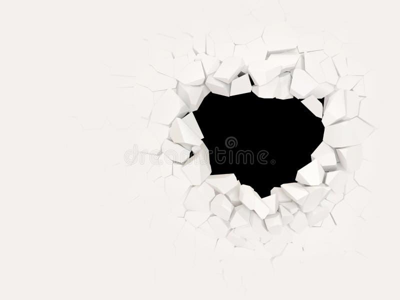 сломленная бетонная стена бесплатная иллюстрация