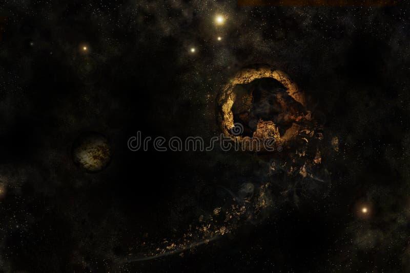сломленная вселенный планеты стоковое фото