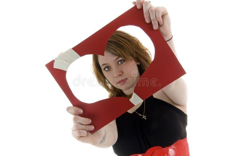сломленная девушка hearted исправляет стоковое изображение