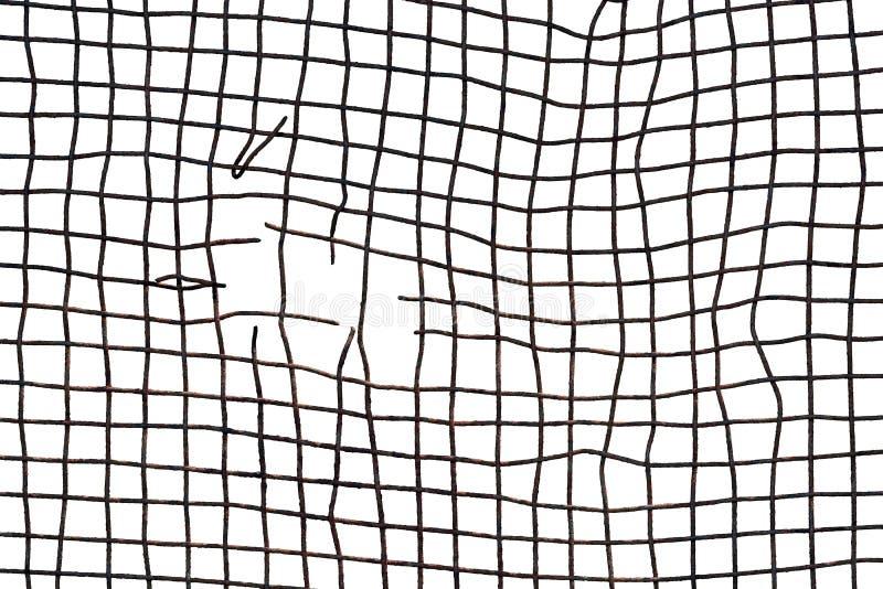 Сломленная ржавая проволочная изгородь изолированная на белой предпосылке стоковые изображения