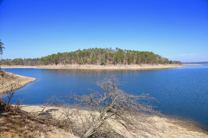 Сломленное озеро смычк, Оклахома стоковое фото rf