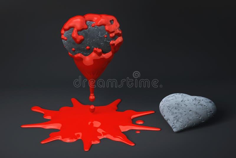 сломленное сердце иллюстрация штока