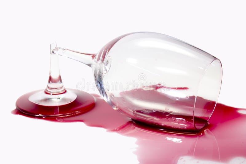 сломленное стеклянное вино стоковая фотография