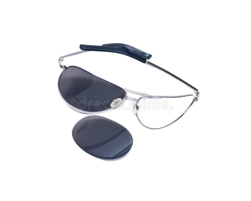 Сломленные пилотные солнечные очки стоковое изображение rf