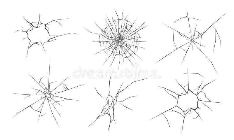Сломленные стеклянные отказы бесплатная иллюстрация