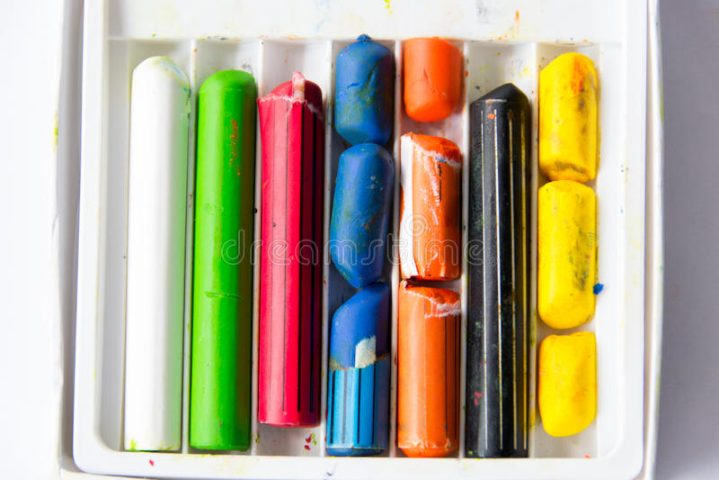 Сломленные crayons стоковое фото