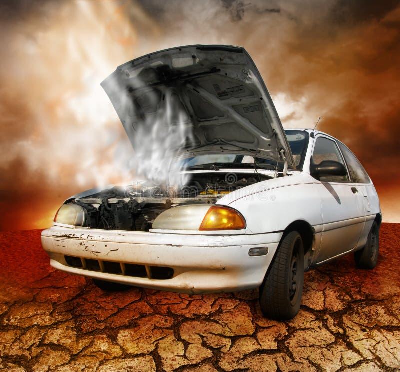 сломленный автомобиль вниз стоковые фото