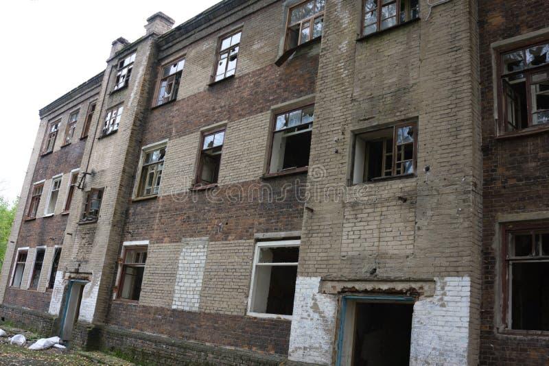 Сломленный городок текстуры структуры руин окна, стоковое фото rf
