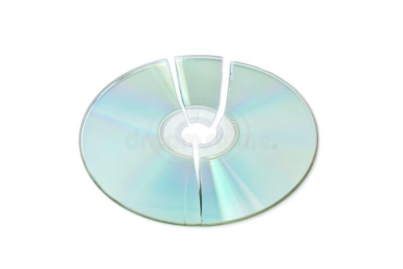 сломленный компактный диск стоковые фото