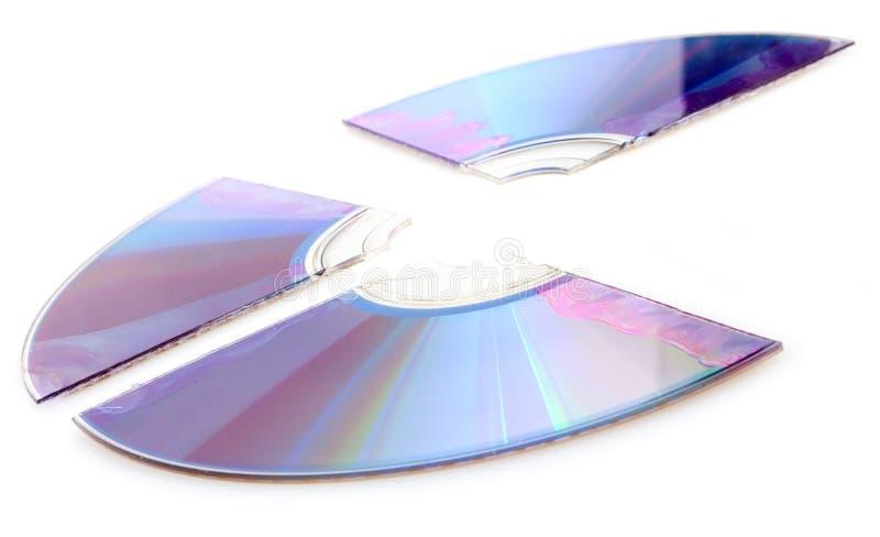 сломленный компактный диск стоковая фотография rf