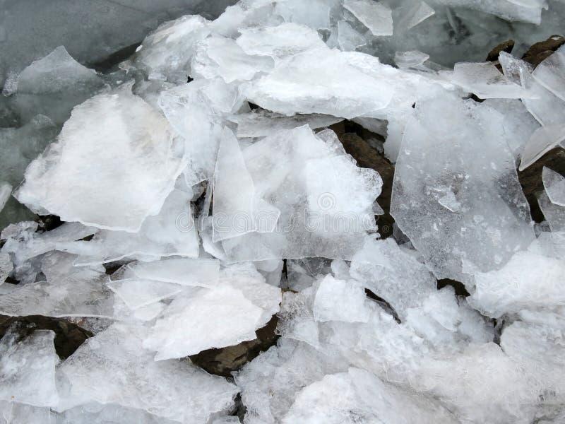 Сломленный лед на Потомаке стоковое фото