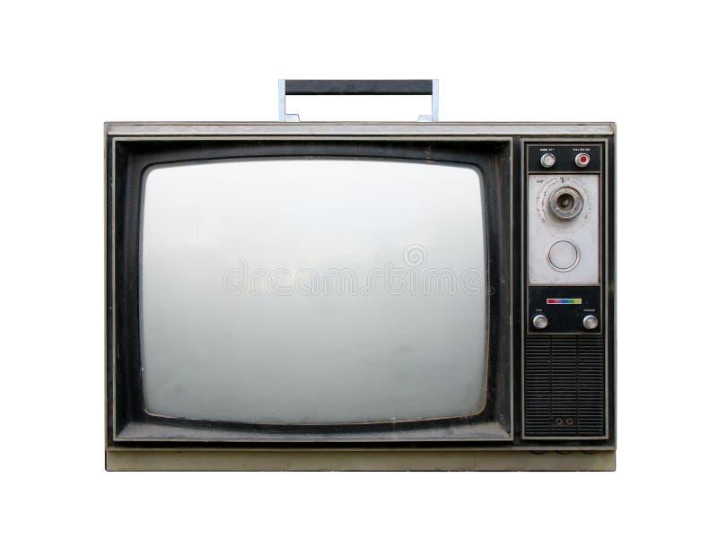 сломленный ретро tv стоковое фото rf