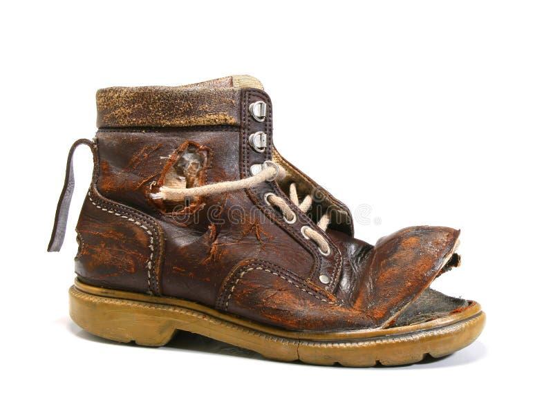 сломленный старый ботинок стоковое фото rf