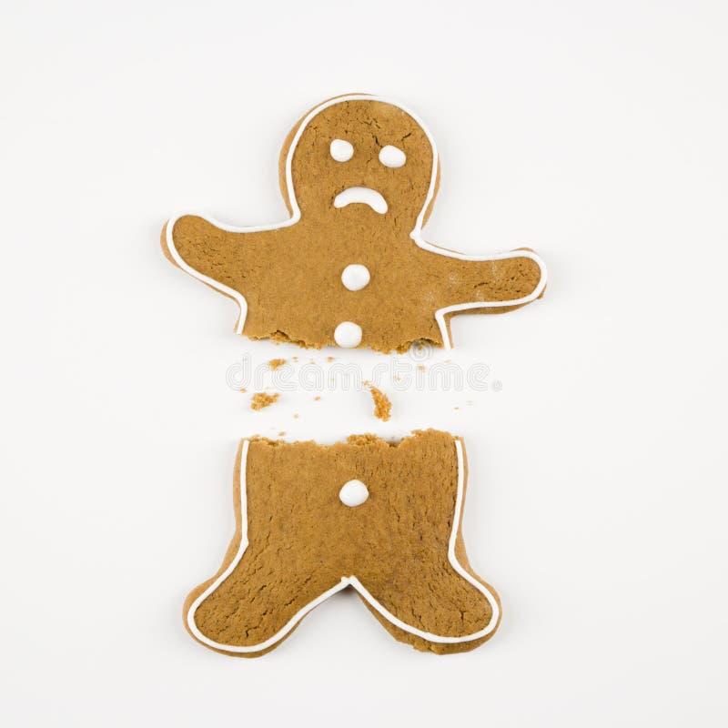 сломленный человек gingerbread стоковое фото rf