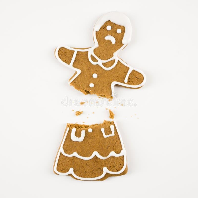 сломленный gingerbread печенья стоковое изображение rf