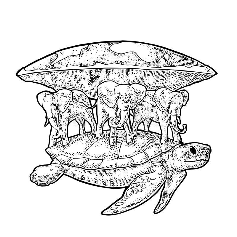 картинка земля на трех слонах китах и черепахе лепса