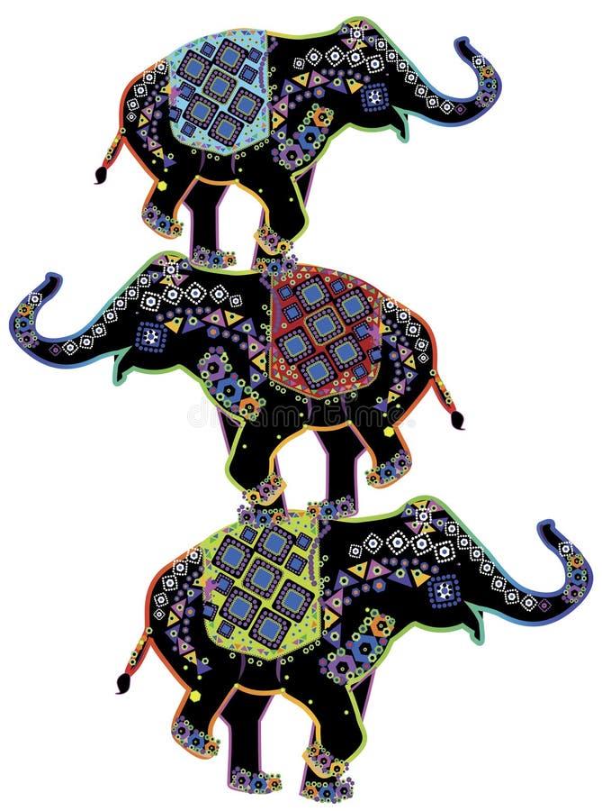 слоны иллюстрация штока