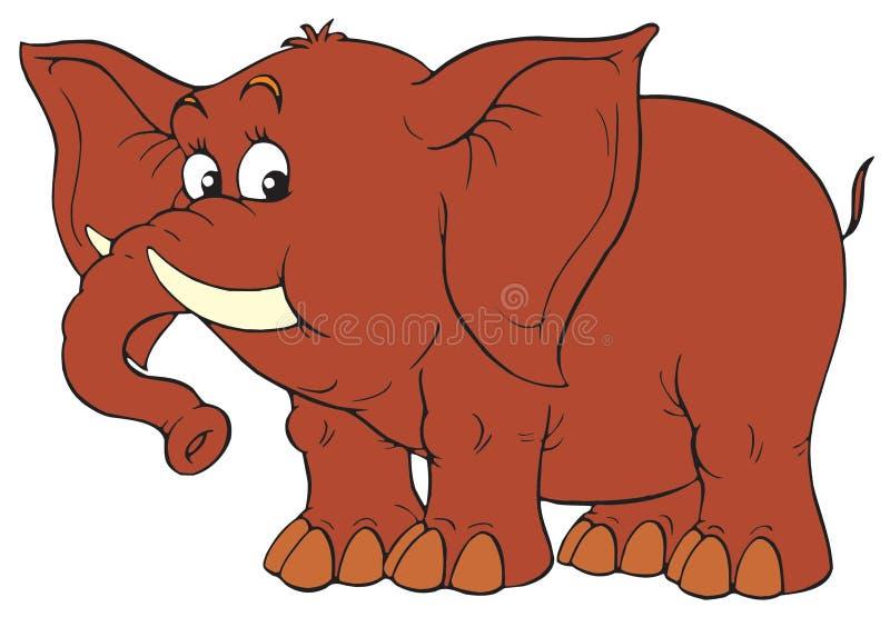 Слон (зажим-искусство) иллюстрация вектора