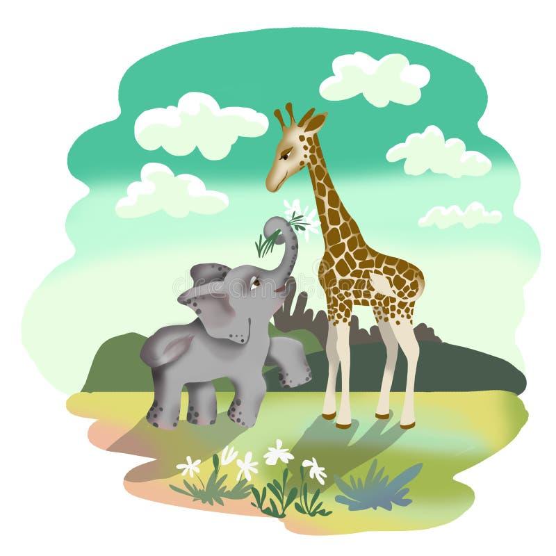 Слоник и жираф картинки