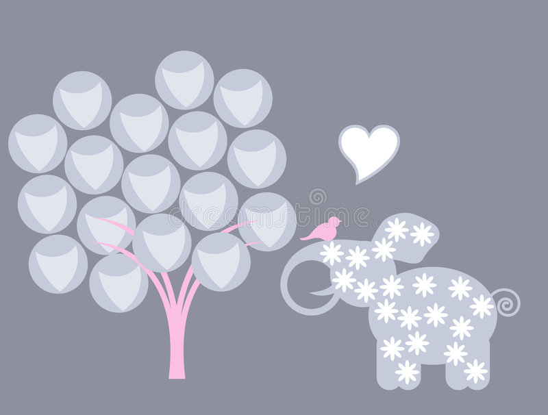 слон птиц иллюстрация штока
