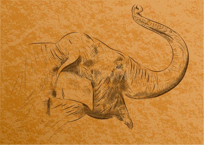 слон иллюстрация штока