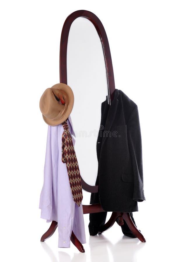 слуга зеркала стоковая фотография